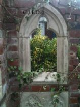 Garden folly Gothic arch Chapel window